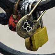 Lock With Rhinestones Poster