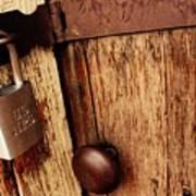 Locked Barn Poster