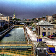 Lockport Canal Locks Poster