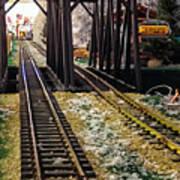 Locomotive Tracks Poster