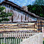 Log Cabin at Conner Prairie Poster