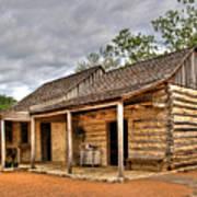 Log Cabin In Lbj State Park Poster