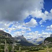 Logan Pass Panorama - Glacier National Park Poster