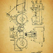 Logging Truck Patent Poster
