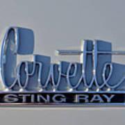 Logo Of 1966 Chevrolet Corvette Sting Ray 427 Turbo-jet Poster