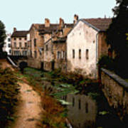 Loire Valley Village Scene Poster