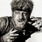 Lon Chaney, Jr. As Wolfman Poster