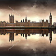 London - The Houses Of Parliament  Poster