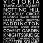 London Bus Roll Poster by Michael Tompsett