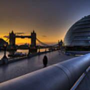 London City Hall Sunrise Poster by Donald Davis