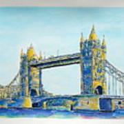 London City Tower Bridge Poster