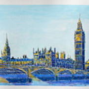 London City Westminster Poster