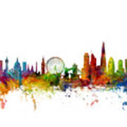 London England Skyline 16x20 Ratio Poster