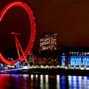 London Eye Poster by Heather Applegate