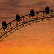 London Eye Sunset Poster