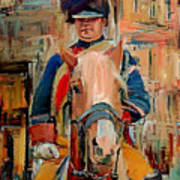 London Guard On Horse Poster