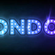 London In Lights Poster