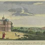 London Magazine, London South East View Of Gloucester Lodge In Windsor Great Park Published Aug 1780 Poster