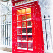 London Red Telephone Booth  Poster