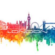 London Skyline City Color Poster