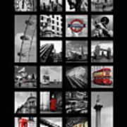 London Squares Poster