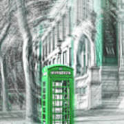 London Telephone Green Poster