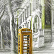 London Telephone Yellow Poster