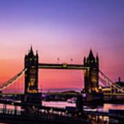 Tower Bridge, London. Poster