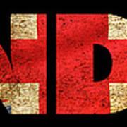London Vintage British Flag Tee Poster