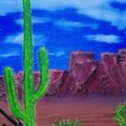 Lone Cactus Poster