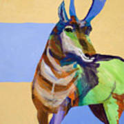 Lone Pronghorn Poster
