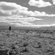 Lone Rider West Of Taos Poster