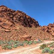 Lone Rock Valley Of Fire  Poster