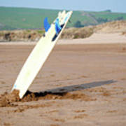 Lone Surfboard Poster
