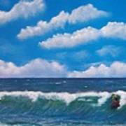 Lone Surfer Poster