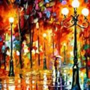 Lonely Night 3 - Palette Knife Oil Painting On Canvas By Leonid Afremov Poster