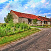 Long Barns Near Avincey - P4a16016 Poster