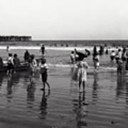 Long Beach California Bathers C. 1910 Poster