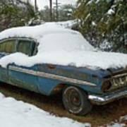 Long Cool Blue Impala Poster