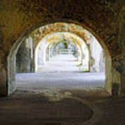 Long Hall At Fort Pickens Poster