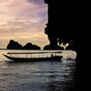 Longboat Sunset Poster