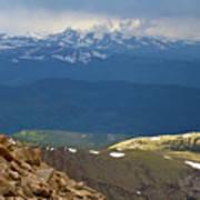 Longs Peak From Mount Evans Colorado Poster