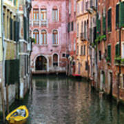 Looking Down A Venice Canal Poster