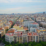 Looking Down On Barcelona From The Sagrada Familia Poster
