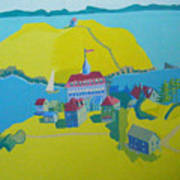 Looking Down On Monhegan And Manana Islands Poster