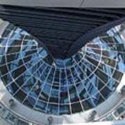 Looking Down The Reichstag Berlin Poster