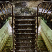 Looking Down The Stairs - Urban Exploration Poster
