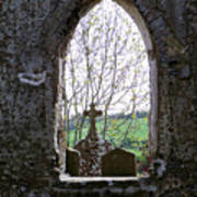 Looking Out Fuerty Church Roscommon Ireland Poster
