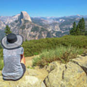 Looking Panorama At Glacier Point Poster