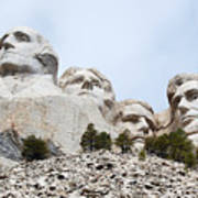 Looking Up At Mount Rushmore National Monument South Dakota Poster